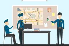 Detektywi w polici royalty ilustracja