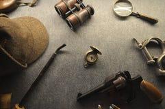 Detektywistyczna kolekcja Fotografia Stock