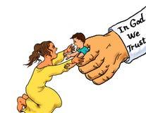 Detenção da criança do imigrante ilegal imagem de stock royalty free