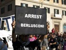 Detención Berlusconi imagenes de archivo