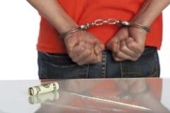 Detención de la cocaína Foto de archivo libre de regalías