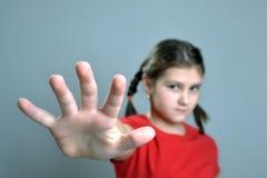Detención de la niña foto de archivo