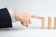 Detención del efecto de dominó Imagen de archivo
