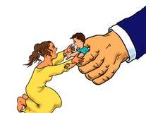 Detención del niño del inmigrante ilegal libre illustration