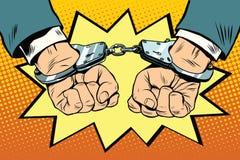 Detención, manos abofeteadas stock de ilustración