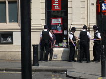 Detención pública del ladrón en Londres céntrico fotografía de archivo