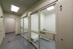 Detention cells. New detention cells at a court house stock photos