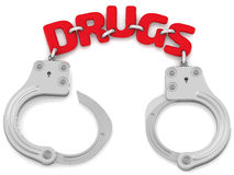 Detention for drugs Stock Photography