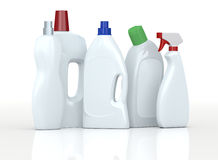 Detergent bottles Royalty Free Stock Images