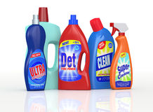 Detergent bottles Stock Photos
