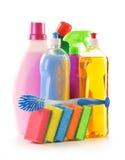 Detergent bottles  on white Stock Photos