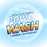 Detergent and cleaning product packaging creative design concept Royalty Free Stock Images