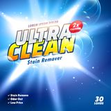 Detergent and cleaning product packaging design in vector Royalty Free Stock Photos