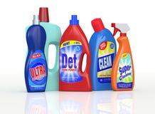 Detergent flessen Stock Foto's