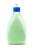 Detergent in green plastic bottle Royalty Free Stock Photography