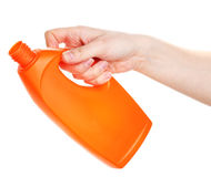 Detergent in hand Royalty Free Stock Image