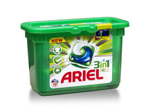 Detergent for laundry Arie royalty free stock photos