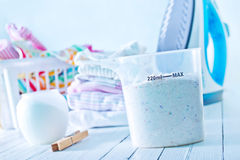 Detergent. For a laundry washer stock images