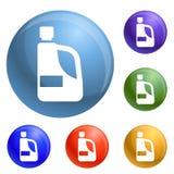 Detergent pictogrammen van de handfles geplaatst vector vector illustratie