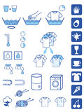 Detergent poedersymbolen Stock Afbeeldingen