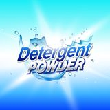 Detergent powder cleaning product packaging concept design templ Royalty Free Stock Photos
