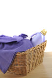 Detergent and Purple Laundry Royalty Free Stock Image