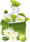 Detergent set. Green nature friendly detergent set Royalty Free Stock Images