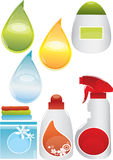 Detergent set Royalty Free Stock Photo