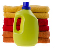 Detergent and towels Royalty Free Stock Images