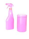 Detergentes de la limpieza Fotos de archivo libres de regalías