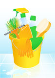 Detergents. Illustration, AI file included Royalty Free Stock Photo
