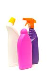 Detergents. Home household detergents. Isolated against the white background royalty free stock images