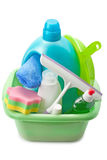 Detergents and cleaning products Royalty Free Stock Image