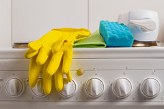 Detergents for the kitchen Stock Images