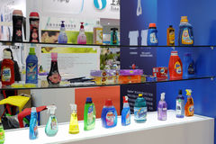 Detergents. New laundry liquid and other detergents show in xiamen city, china Stock Photography