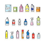 Detergents set Stock Photography