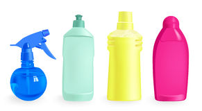 Detergents - vector illustration Royalty Free Stock Photo