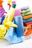Detergents on white closeup Stock Images