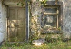 Deterioração da casa foto de stock