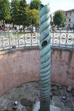 Deterioração de bronze bizantina das colunas Foto de Stock
