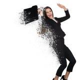 Deterioração nova da mulher de negócio imagens de stock