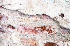 A deterioração rachada pintou o fundo da textura do muro de cimento, wa do grunge Fotos de Stock Royalty Free