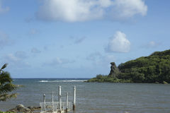 Deteriorated boat ramp in Guam Stock Image