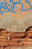Deteriorated brick wall Royalty Free Stock Photos
