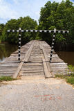 Deteriorated wooden bridge Royalty Free Stock Photography