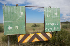 Deteriorateds Road Sign as Frame Stock Photos