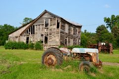 A Deteriorating Farm Royalty Free Stock Photo