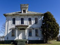 Deteriorating Italianate House Royalty Free Stock Images