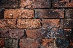 A deteriorating Old Brick Wall could be use a background or as Royalty Free Stock Photo