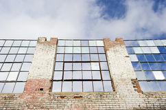 Deteriorating old building with sky Royalty Free Stock Image